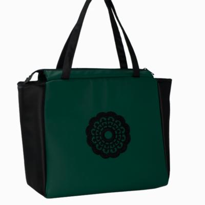 torebka na ramie butelkowa zielen