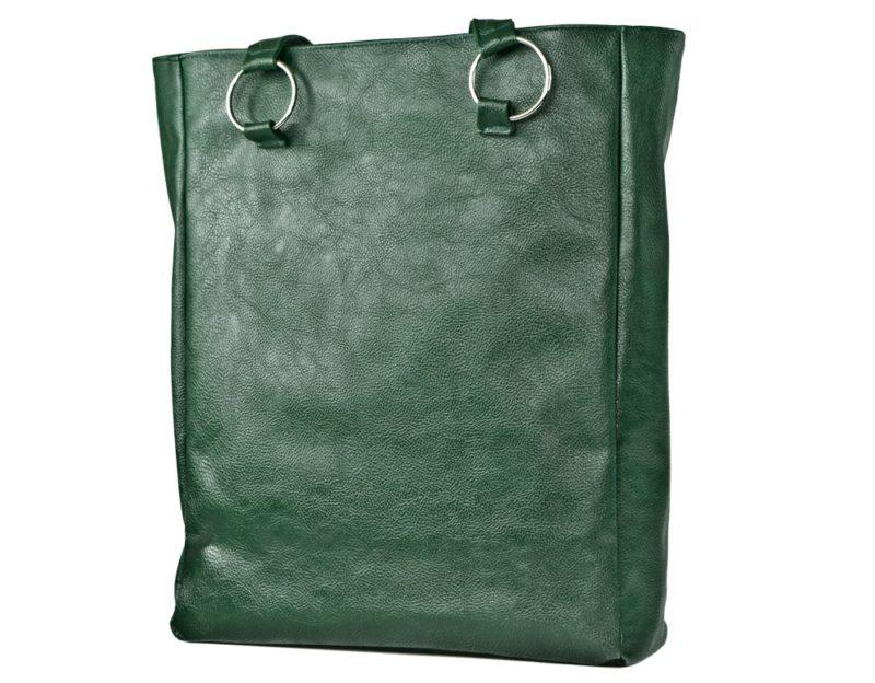 duza zielona torba