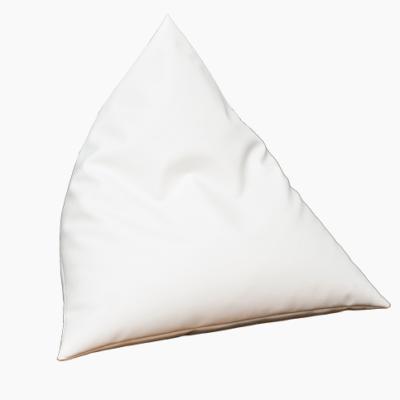 biała pufa ostrosłup