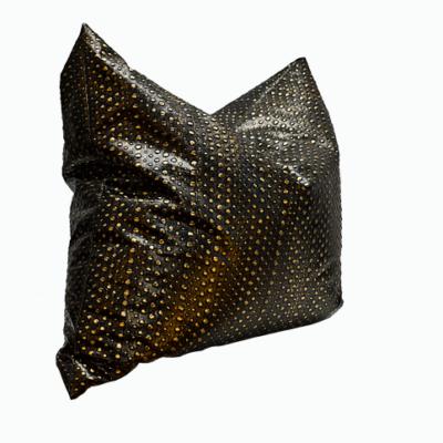 czarno złota pufa do salonu